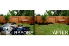 New-Fenced Yard Before & After Cleanup